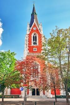 Kościół sankt elisabeth (st.-elisabeth-platz) w pobliżu belwederu w wiedniu. austria.