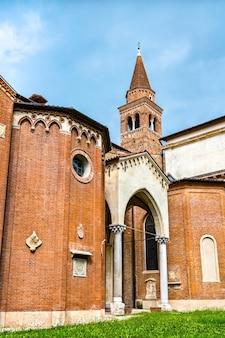 Kościół santa corona w vicenzy, światowego dziedzictwa unesco we włoszech