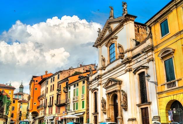 Kościół santa maria dei servi w vicenza we włoszech