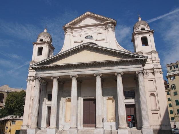 Kościół Santissima Annunziata W Genui We Włoszech Premium Zdjęcia