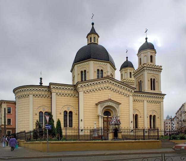 Kościół św. Paraskevi. Czerniowce, Ukraina. Premium Zdjęcia