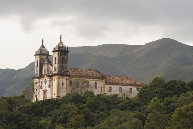 Kościół świętego franciszka z paoli, w ouro preto, minas gerais, brazylia