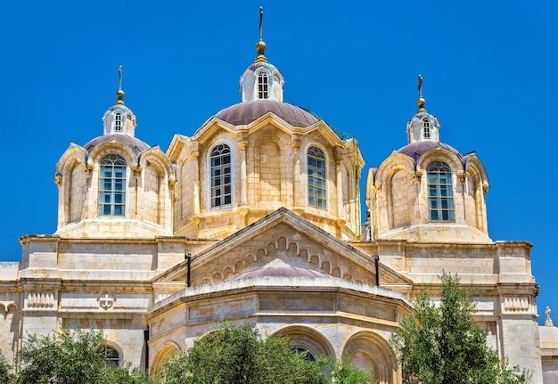 Kościół świętej trójcy w rosyjskiej dzielnicy jerozolimy - izrael