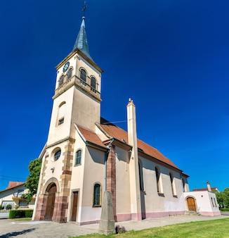 Kościół świętych piotra i pawła w plobsheim - bas-rhin, francja