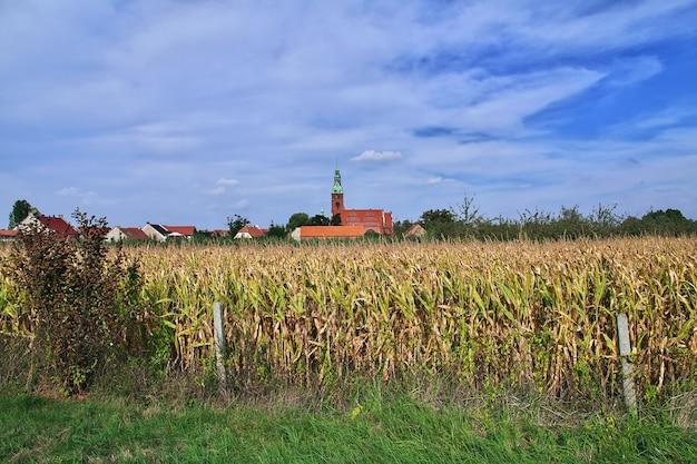 Kościół w małej wsi w polsce