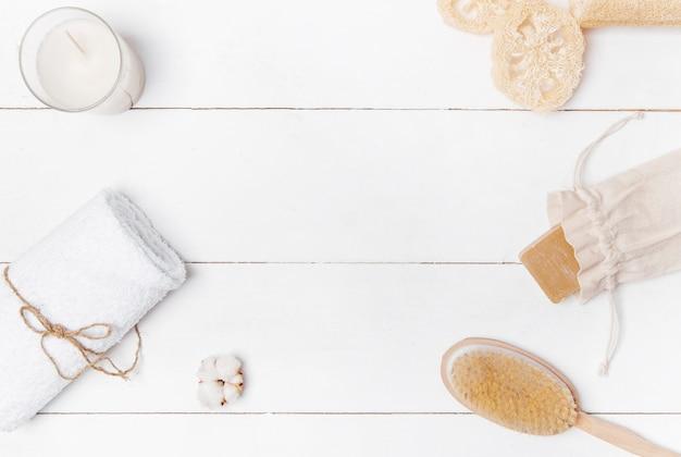 Kosmetyki ekologiczne w tle spa