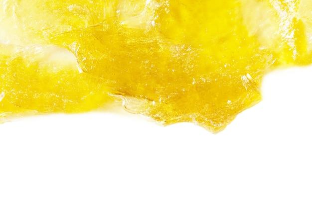Kosmetyki żelowe rozmazywanie białe tło na białym tle koncepcja pielęgnacji skóry obraz