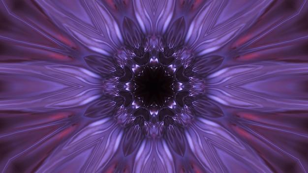 Kosmiczna przestrzeń z fioletowymi światłami laserowymi - idealna na tapetę cyfrową