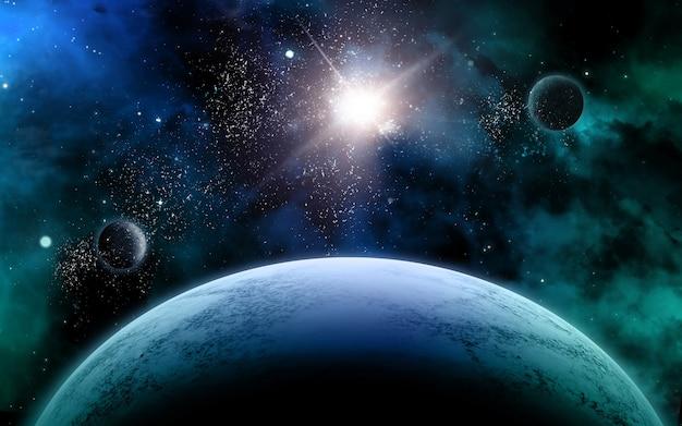 Kosmiczna scena z gwiazdami w galaktyce. panorama. wszechświat wypełniony gwiazdami, mgławicą i galaktyką, droga mleczna..jpg