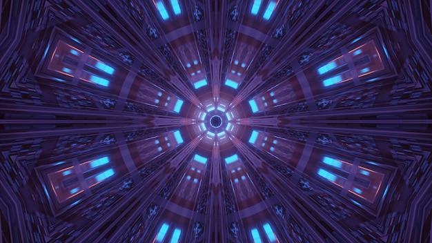 Kosmiczne otoczenie z kolorowymi neonami laserowymi - idealne na tapetę cyfrową