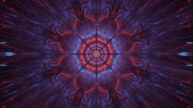 Kosmiczne tło fioletowo-niebieskich i czerwonych świateł laserowych - idealne na tapetę cyfrową