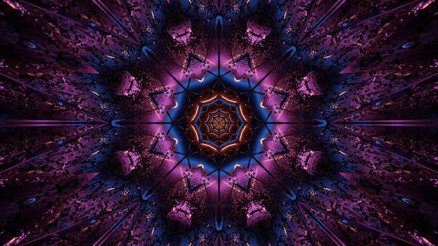 Kosmiczne tło fioletowych i niebieskich świateł laserowych - idealne na tapetę cyfrową