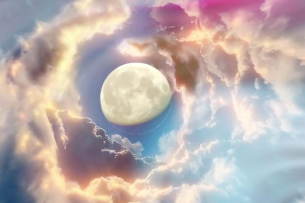 Kosmiczne tło z abstrakcyjnymi planetami i gwiazdami