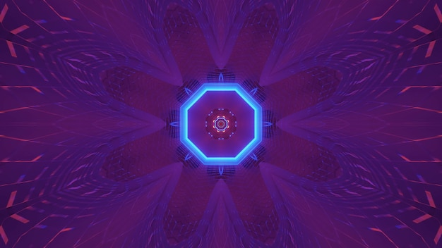 Kosmiczne tło z kolorowymi fioletowymi i niebieskimi światłami laserowymi - idealne na tapetę cyfrową