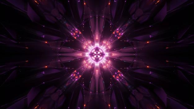 Kosmiczne tło z kolorowymi neonami laserowymi - idealne jako tapeta cyfrowa