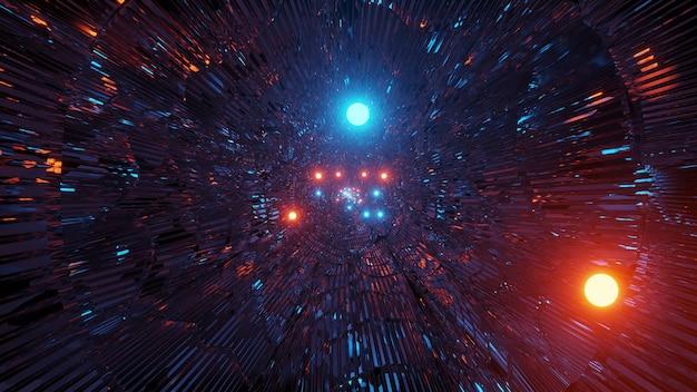 Kosmiczne tło z kolorowymi światłami laserowymi - idealna ilustracja do tapet