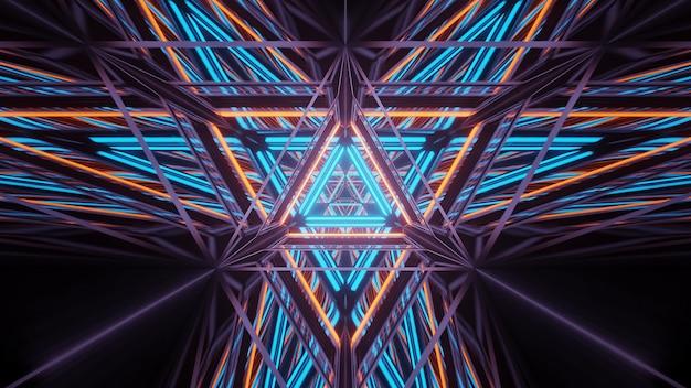 Kosmiczne tło z kolorowymi światłami laserowymi - idealne jako tapeta cyfrowa