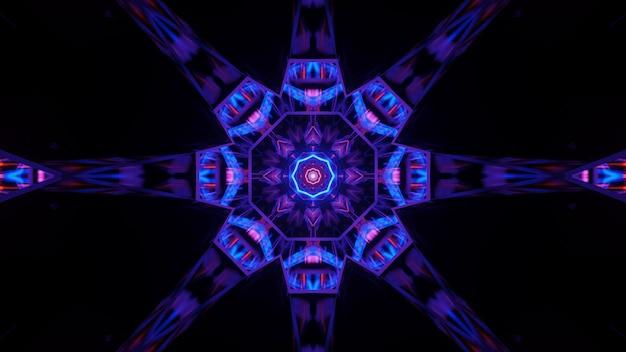Kosmiczne tło z kolorowymi światłami laserowymi o fajnych kształtach - idealne na tapetę cyfrową