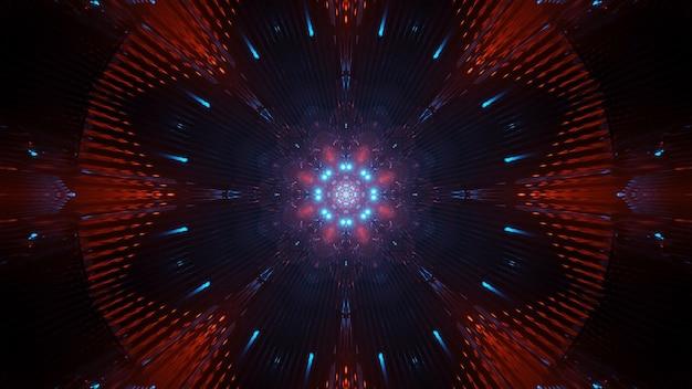 Kosmiczne tło z kolorowymi światłami laserowymi