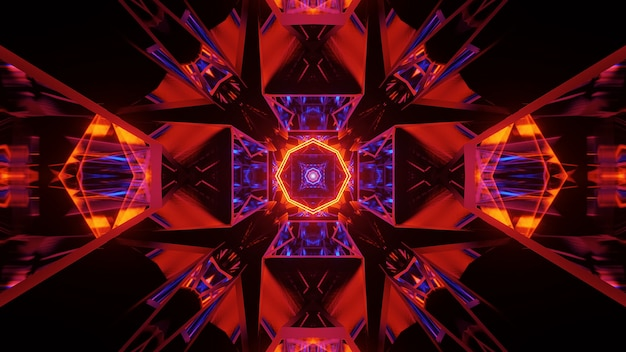Kosmiczne tło z kolorowymi światłami o fajnych kształtach