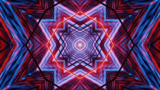 Kosmiczne tło z niebieskimi i czerwonymi światłami laserowymi - idealne na cyfrowe tło