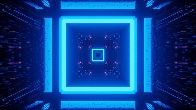 Kosmiczne tło z niebieskimi światłami laserowymi