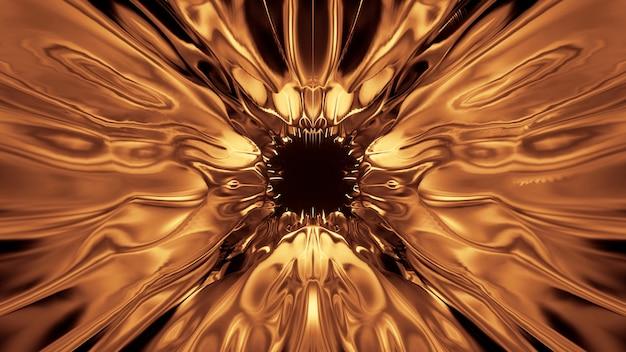 Kosmiczne tło ze złotymi światłami laserowymi - idealne na tapetę cyfrową