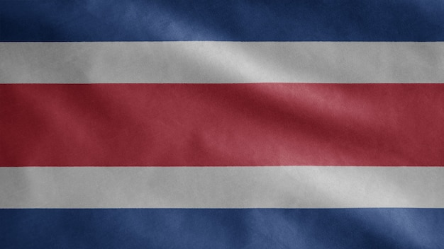 Kostaryka macha flagą na wietrze