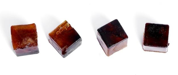 Kostka lodu mrożonej kawy