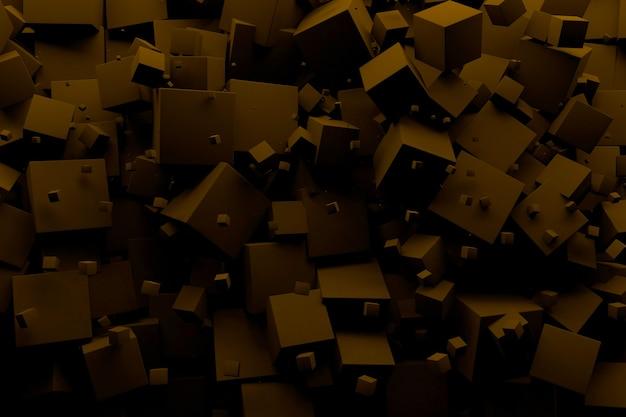 Kostki 3d różne rozmiary, geometryczne tło powitalny