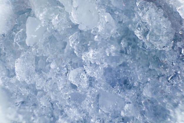 Kostki lodu tekstury koloru miękki błękit