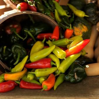 Kosz papryki chili
