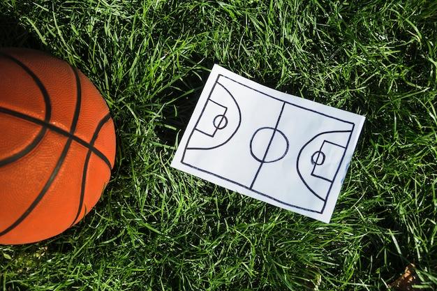 Koszykówka obok planu gry