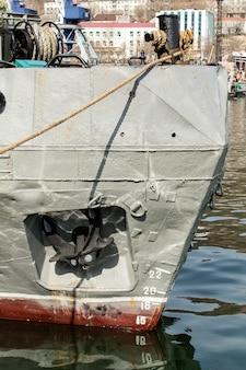 Kotwica statku morskiego na kamczatce