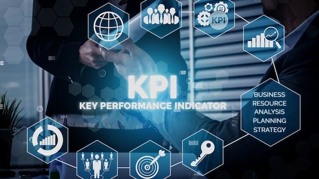 Kpi key performance indicator for business koncepcyjny