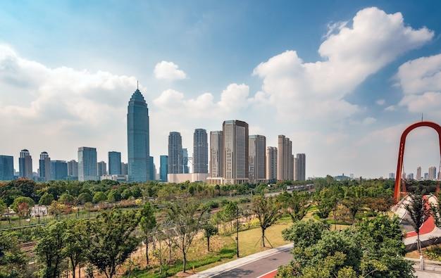 Krajobraz architektoniczny centralnej dzielnicy biznesowej shaoxing