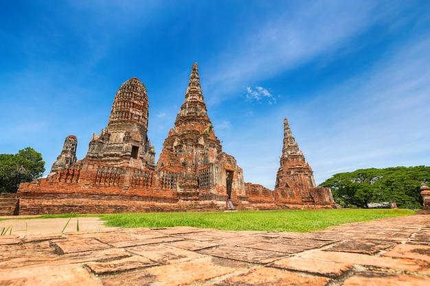 Krajobraz ayutthaya historical park w ayutthaya, tajlandia