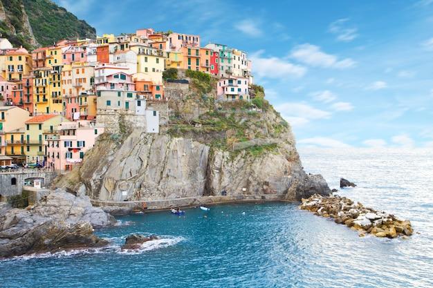 Krajobraz cinque terre we włoszech