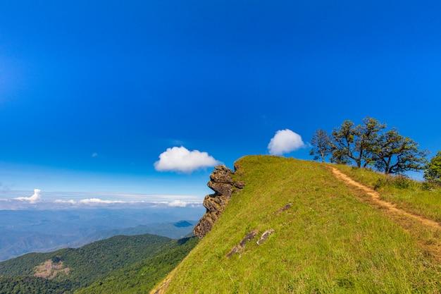Krajobraz doi mon chong, chiangmai, tajlandia.