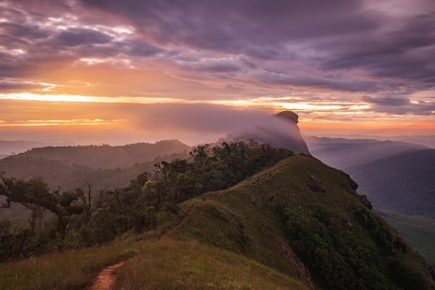 Krajobraz doi mon chong, chiangmai, tajlandia