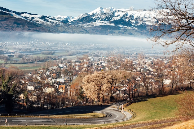 Krajobraz gór liechtensteinu