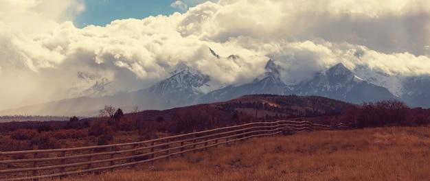 Krajobraz górski w kolorado góry skaliste, kolorado, stany zjednoczone.