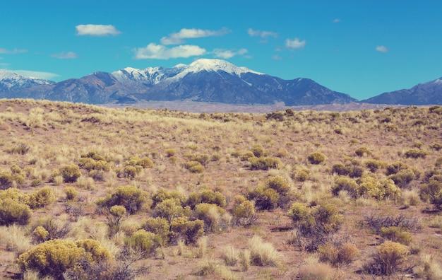 Krajobraz Górski W Kolorado Góry Skaliste, Kolorado, Stany Zjednoczone. Premium Zdjęcia