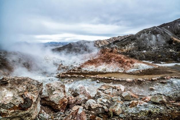 Krajobraz landmannalaugar islandia highland