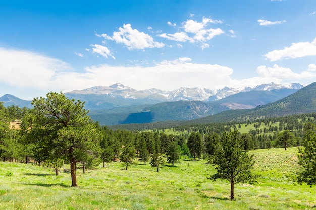 Krajobraz longs peak w rocky mountain park