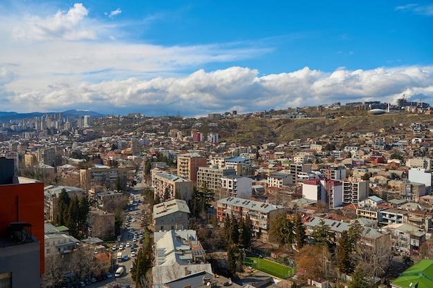Krajobraz miasta tbilisi w gruzji