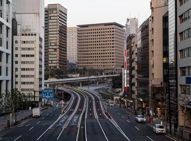Krajobraz miejski japonii ulice