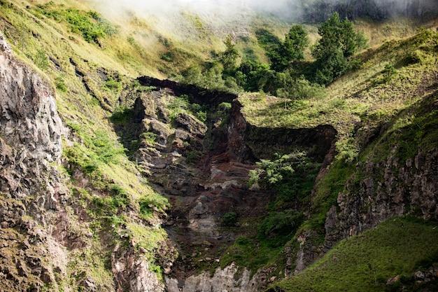 Krajobraz. na wulkan batur. bali. indonezja