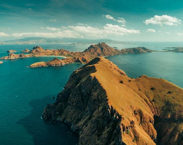 Krajobraz parku narodowego komodo