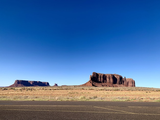 Krajobraz parku narodowego monument valley